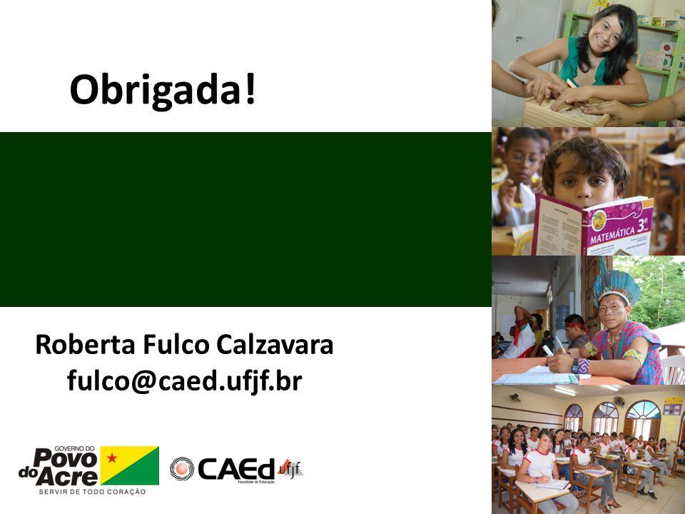 Obrigada! Roberta Fulco Calzavara fulco@caed.ufjf.br