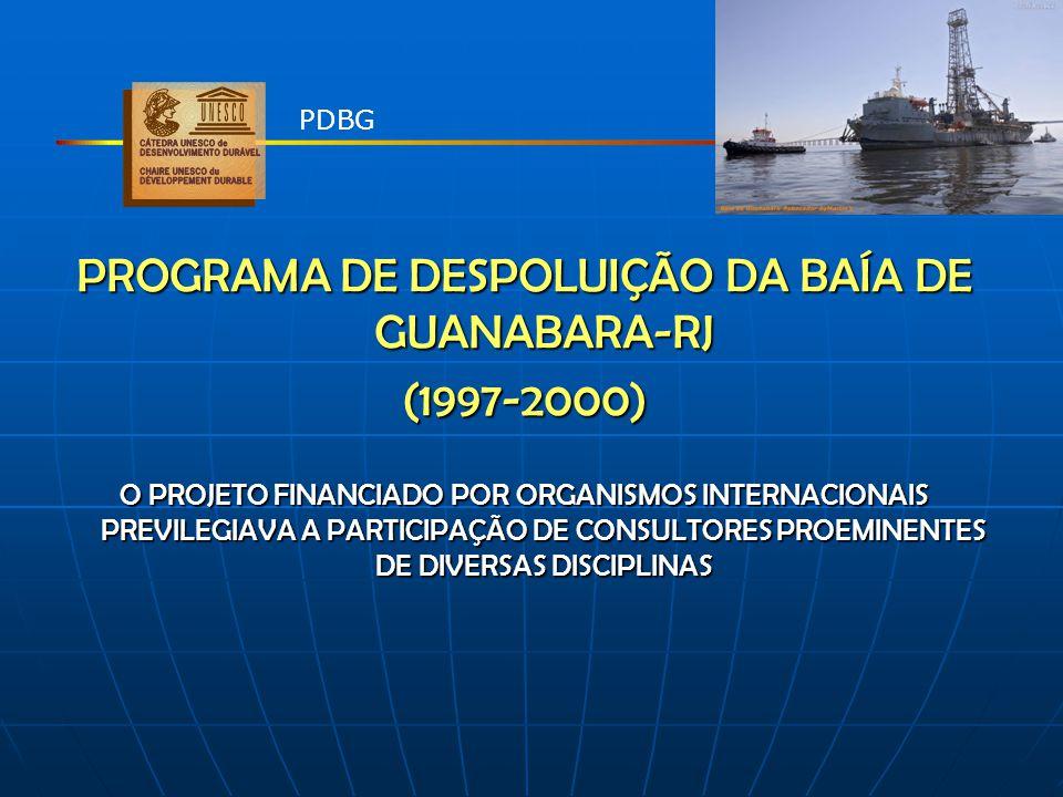 PROGRAMA DE DESPOLUIÇÃO DA BAÍA DE GUANABARA-RJ (1997-2000) O PROJETO FINANCIADO POR ORGANISMOS INTERNACIONAIS PREVILEGIAVA A PARTICIPAÇÃO DE CONSULTO