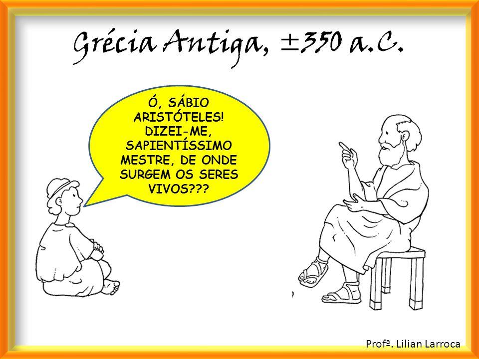 Grécia Antiga, ±350 a.C. Ó, SÁBIO ARISTÓTELES! DIZEI-ME, SAPIENTÍSSIMO MESTRE, DE ONDE SURGEM OS SERES VIVOS???