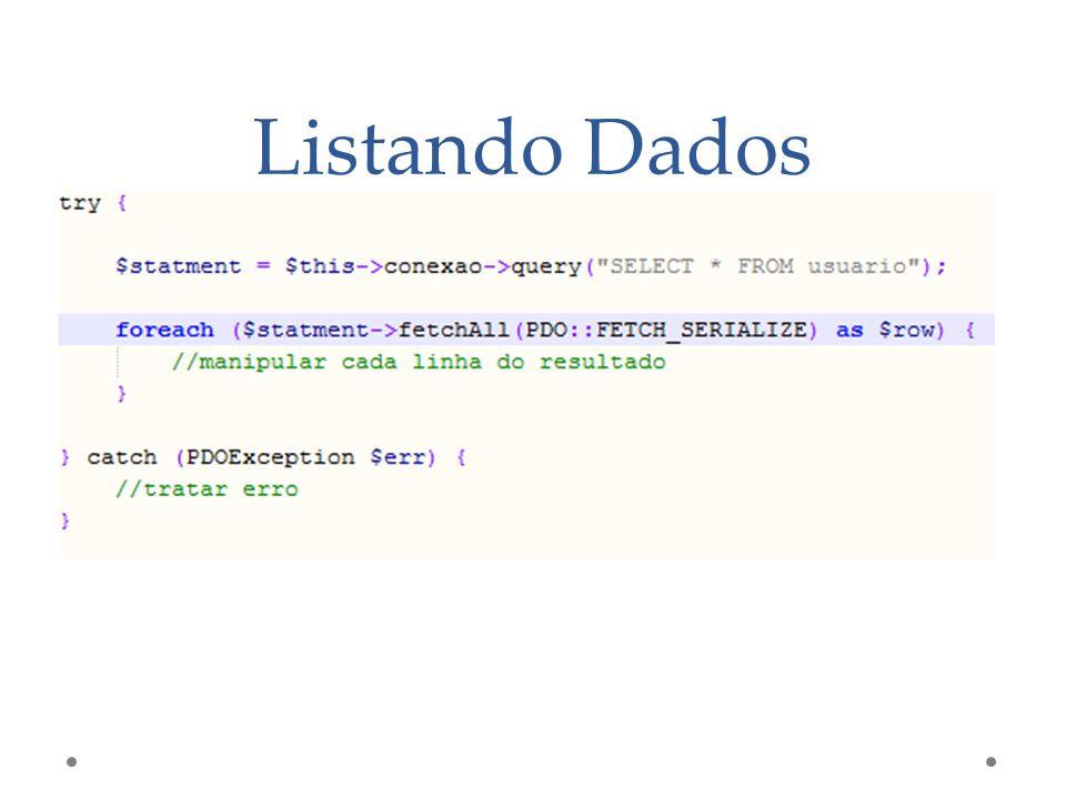 Listando Dados