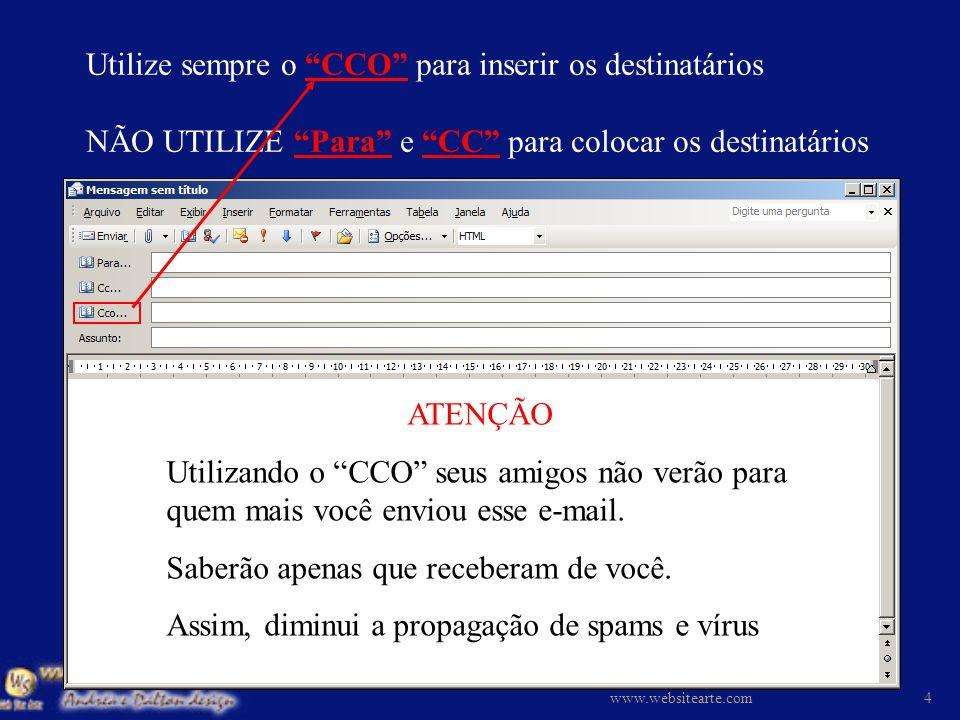 Sempre utilize ENCAMINHAR para repassar seus e-mails www.websitearte.com3