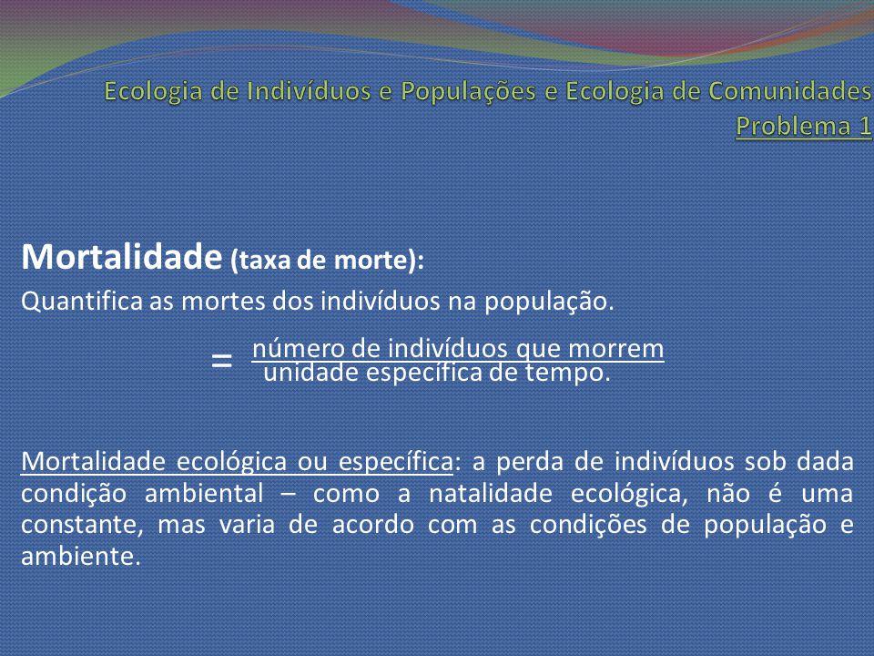 Distribuição etária: Atributo importante das populações, influencia tanto a natalidade quanto a mortalidade.