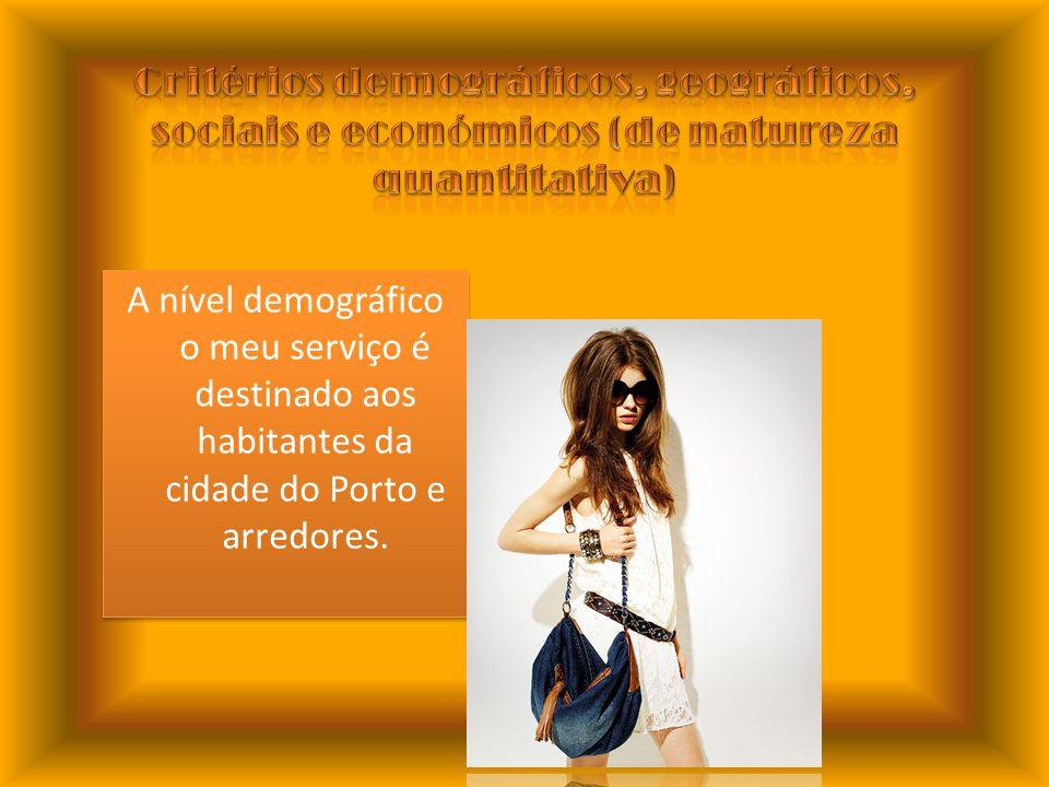 A nível demográfico o meu serviço é destinado aos habitantes da cidade do Porto e arredores.
