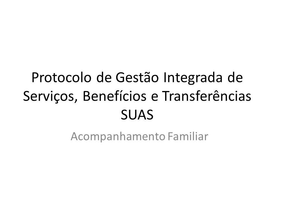 Protocolo de Gestão Integrada de Serviços, Benefícios e Transferências SUAS Acompanhamento Familiar