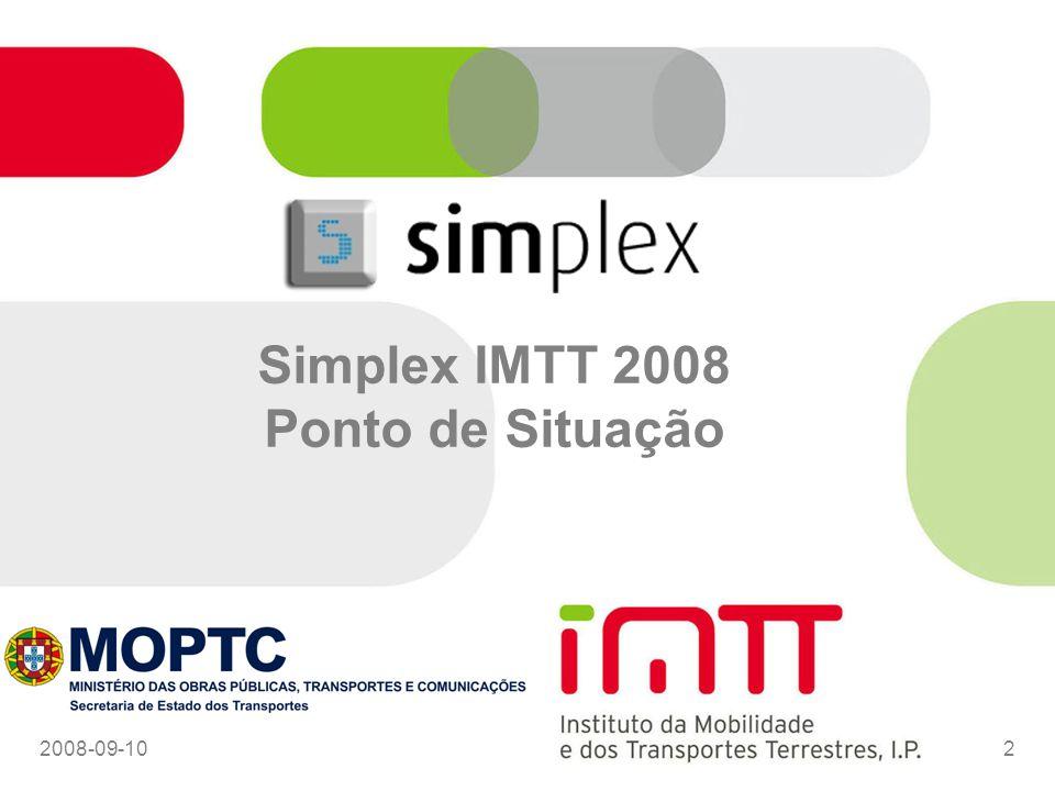 2008-09-102 Simplex IMTT 2008 Ponto de Situação