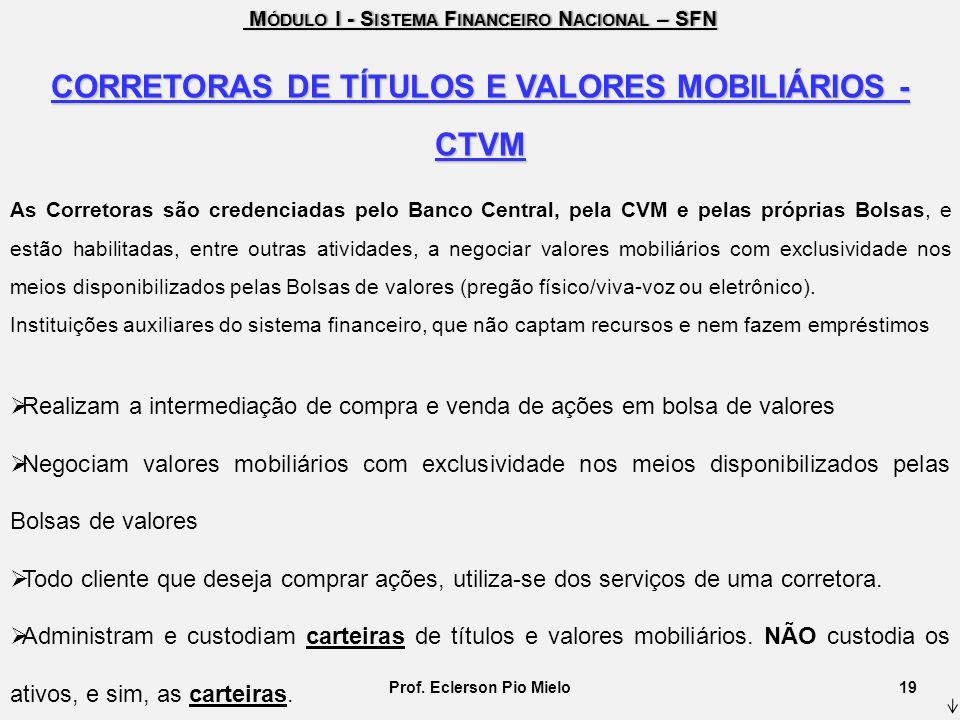 M ÓDULO I - S ISTEMA F INANCEIRO N ACIONAL – SFN M ÓDULO I - S ISTEMA F INANCEIRO N ACIONAL – SFN CORRETORAS DE TÍTULOS E VALORES MOBILIÁRIOS - CTVM A