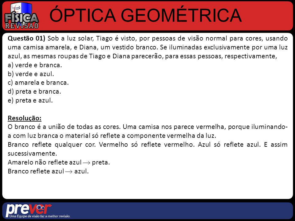 ÓPTICA GEOMÉTRICA Questão 07) Um objeto real, direito, de 5 cm de altura, está localizado entre dois espelhos esféricos, um côncavo (R = 10 cm) e um convexo (R = 30 cm), sobre o eixo principal desses espelhos.