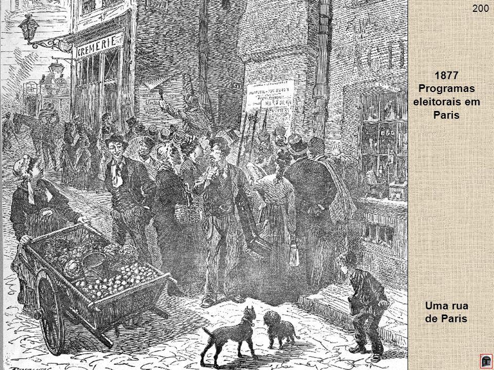200 1877 Programas eleitorais em Paris Uma rua de Paris