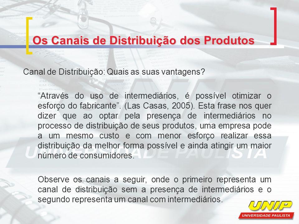 Os Canais de Distribuição dos Produtos Canal de Distribuição: Quais as suas vantagens? Através do uso de intermediários, é possível otimizar o esforço