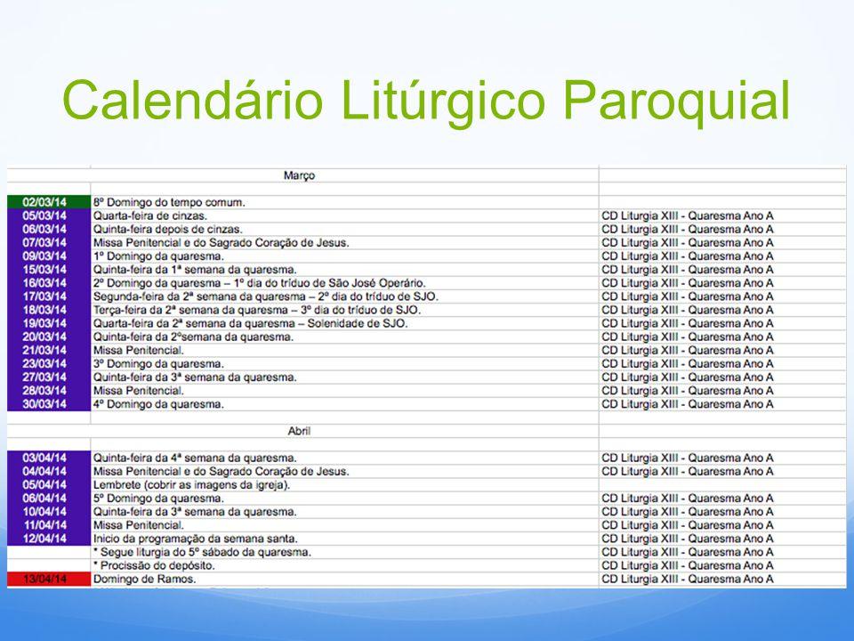 Calendário Litúrgico Paroquial