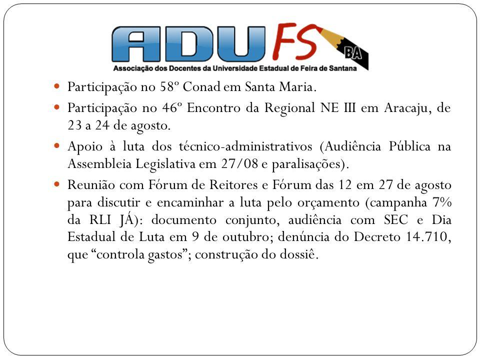 Participação no 58º Conad em Santa Maria.