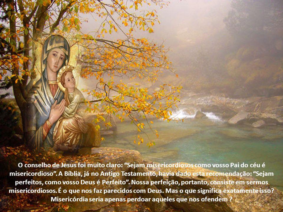 Virgem clemente, ou ainda Virgem benigna. A Salve Rainha indica esta mesma virtude de Maria três vezes: Mãe de misericórdia; estes vossos olhos miseri