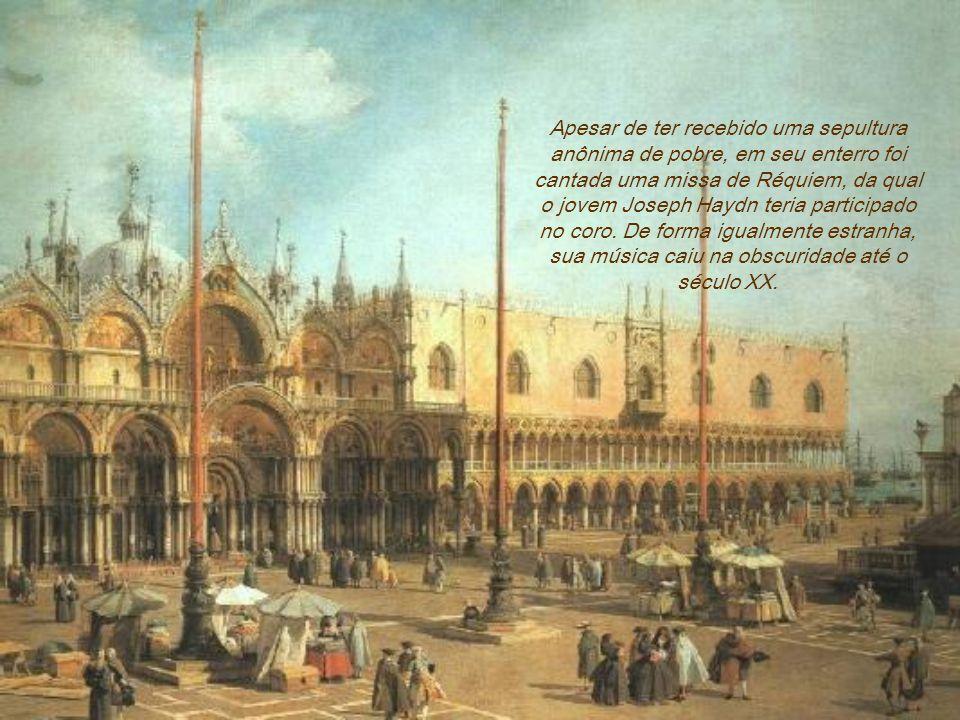 Contudo, pouco depois da sua chegada a Viena, Carlos VI veio a morrer. Este trágico golpe de azar deixou o compositor desprovido da proteção real e de