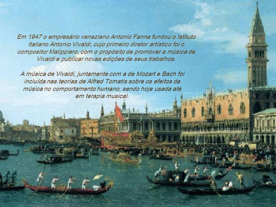 A ressurreição do trabalho de Vivaldi no século XX deve-se sobretudo aos esforços de Alfredo Casella, que em 1939 organizou a agora histórica Semana V