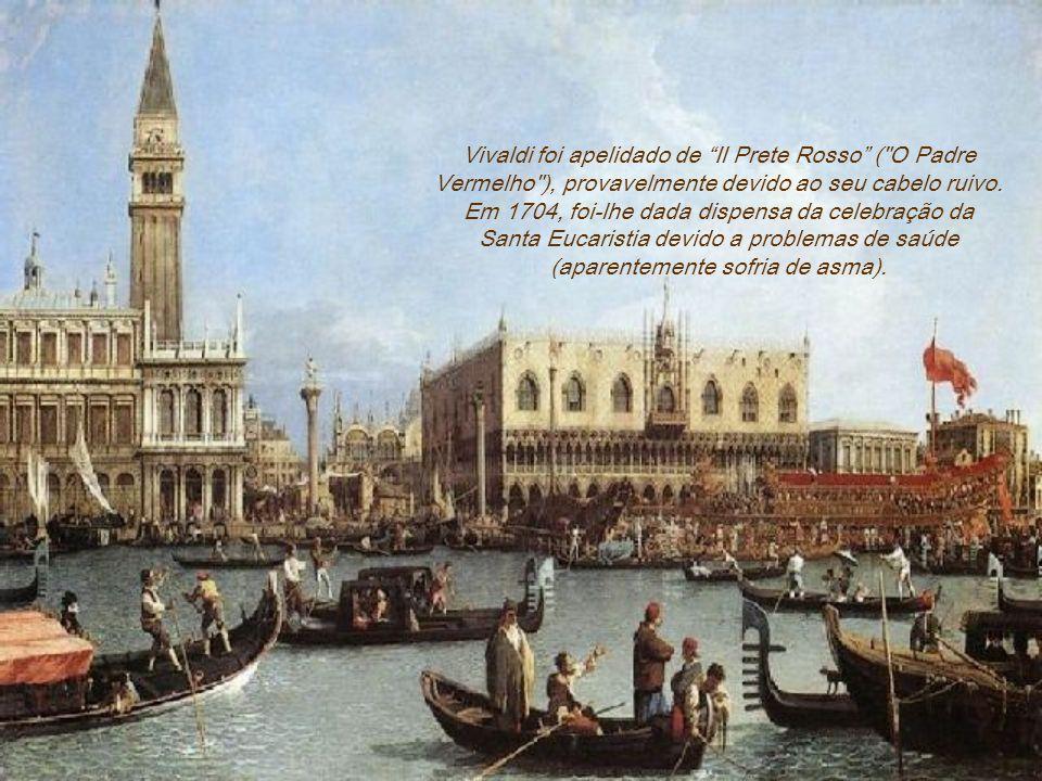 Antonio Lucio Vivaldi foi padre e compositor genial de música barroca italiana. Seu pai, um barbeiro, também violinista, ajudou-o a iniciar sua carrei