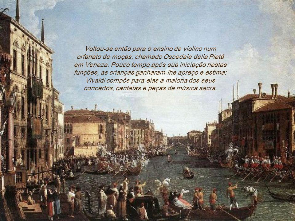 Voltou-se então para o ensino de violino num orfanato de moças, chamado Ospedale della Pietá em Veneza.