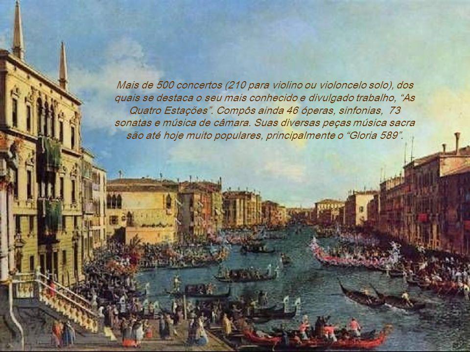 Mais de 500 concertos (210 para violino ou violoncelo solo), dos quais se destaca o seu mais conhecido e divulgado trabalho, As Quatro Estações.
