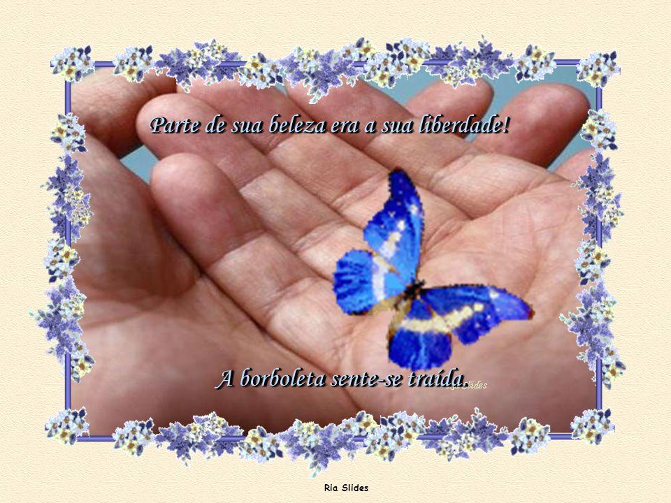 Ria Slides Logo a alegria se vai, pois a beleza da borboleta já não é mais a mesma.