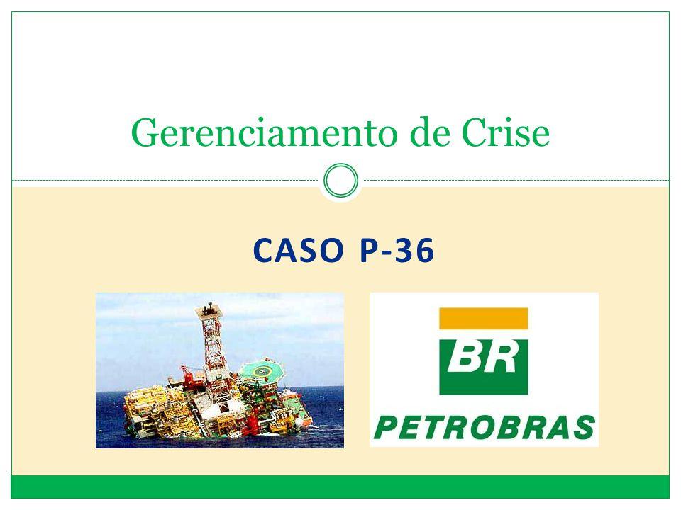 Acidente na Plataforma P-36 da Petrobras A P-36 era operada pela Petrobrás no campo de Roncador, na Bacia de Campos, distante 130 km da costa do estado do Rio de Janeiro, produzindo 84.000 barris de petróleo por dia.