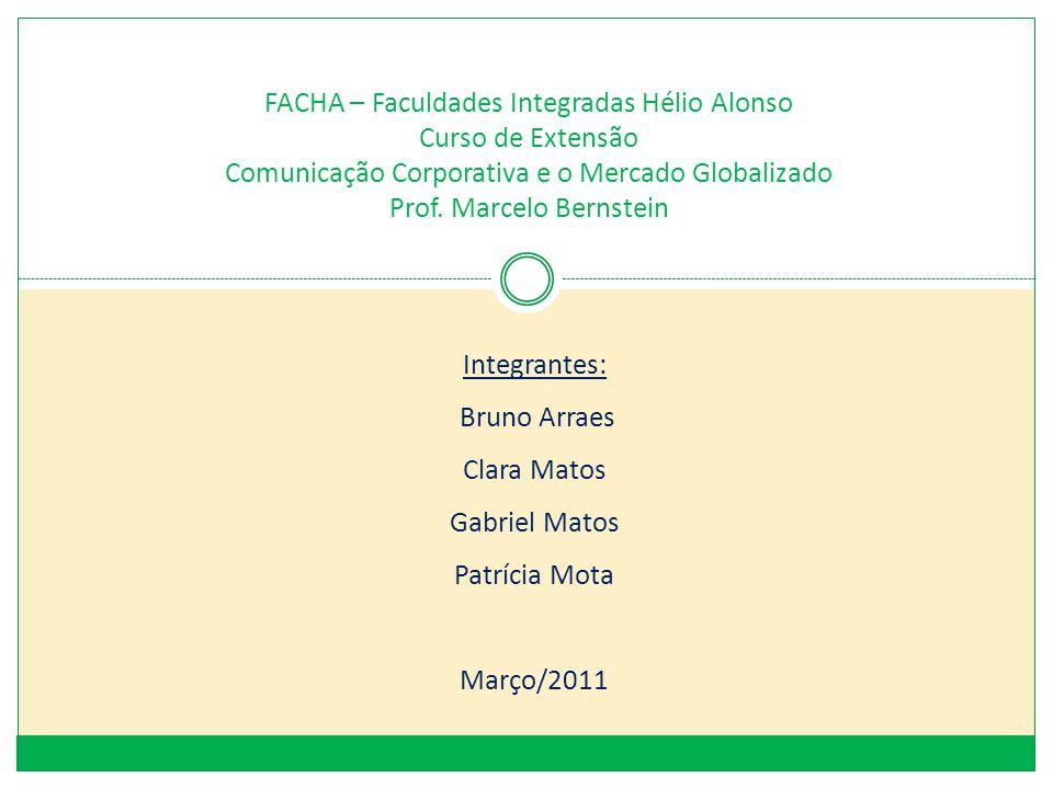 FACHA – Faculdades Integradas Hélio Alonso Curso de Extensão Comunicação Corporativa e o Mercado Globalizado Prof. Marcelo Bernstein Integrantes: Brun