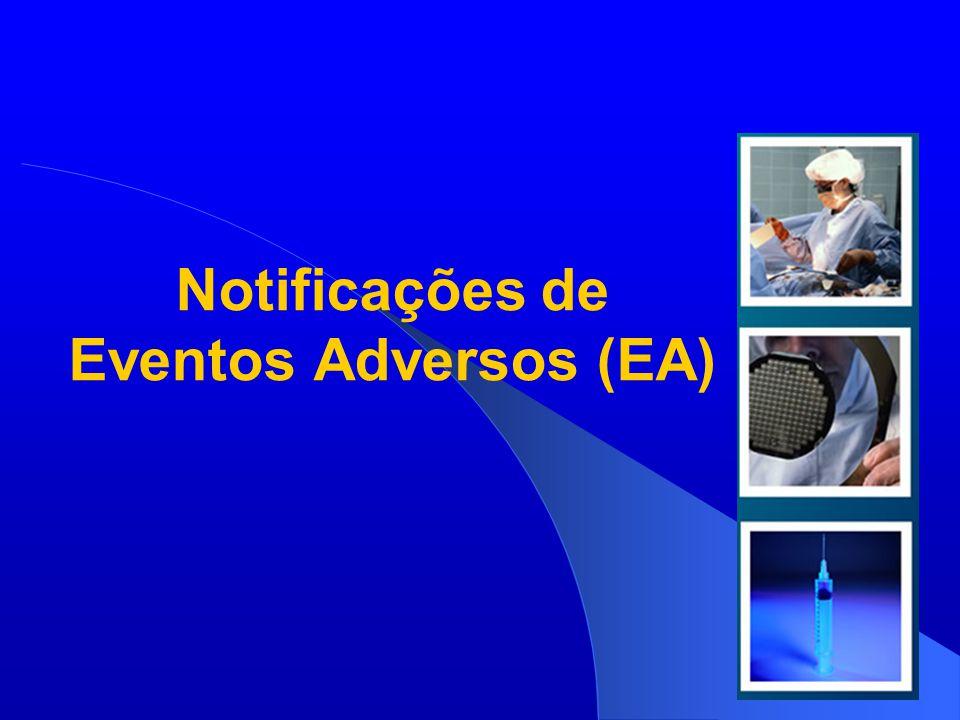 Agência Nacional de Vigilância Sanitária www.anvisa.gov.br Número de notificações de eventos adversos por sexo, Brasil, 2009* N= 3.767 Exceto notificações de medicamentos.