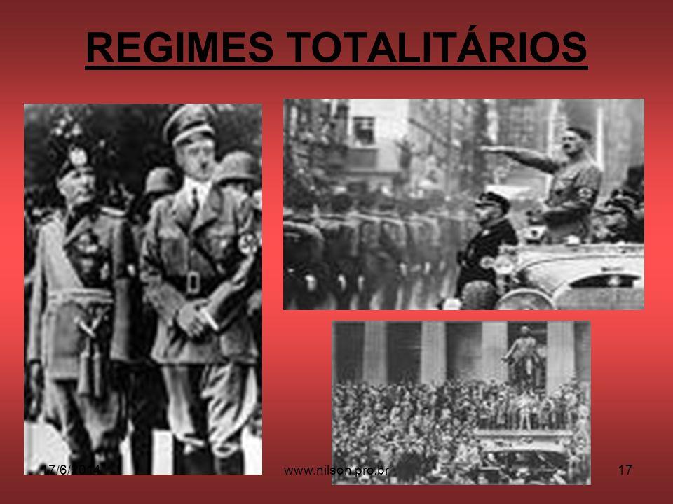 REGIMES TOTALITÁRIOS 17/6/201417www.nilson.pro.br