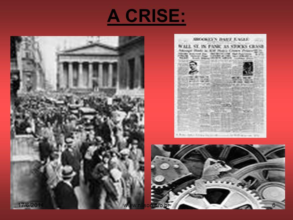 A CRISE: 17/6/20146www.nilson.pro.br