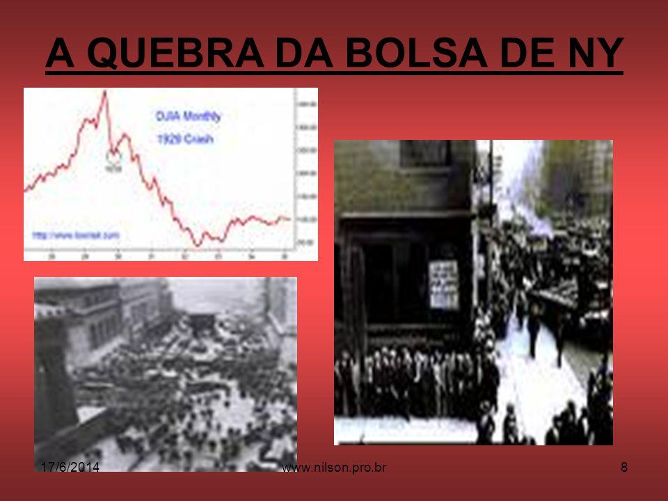 O FIM DO SONHO AMERICANO 17/6/20149www.nilson.pro.br