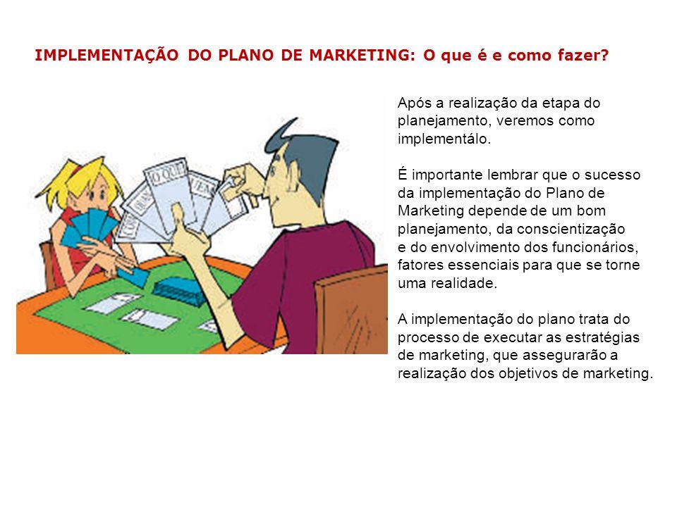 IMPLEMENTAÇÃO DO PLANO DE MARKETING: O que é e como fazer? Após a realização da etapa do planejamento, veremos como implementálo. É importante lembrar