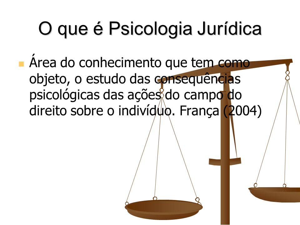 Estudo, Tratamento e Assessoramento de várias etapas da atividade jurídica, desde os cuidados relacionados às vítimas, infratores e até profissionais do Direito (Freitas, 2009).