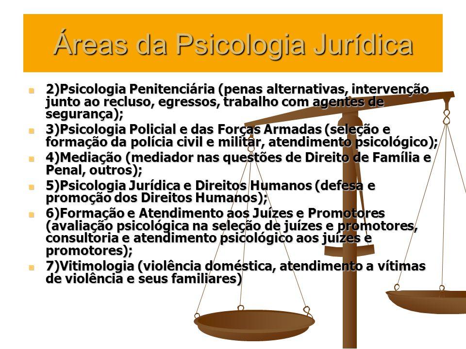 Psicologia Forense Toda a Psicologia aplicada no âmbito de um processo ou procedimento em andamento no Foro (ou realizada vislumbrando tal objetivo).