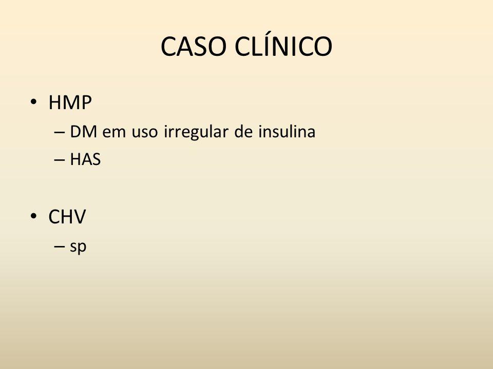 CASO CLÍNICO HMP – DM em uso irregular de insulina – HAS CHV – sp