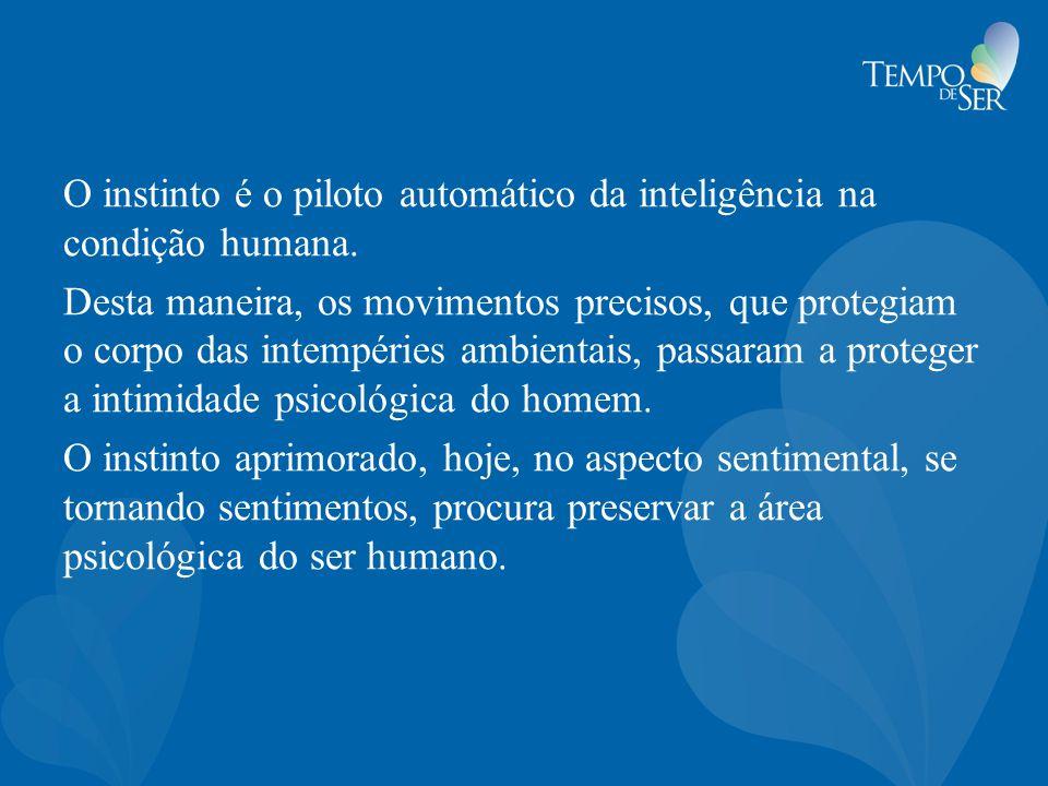 O instinto é o piloto automático da inteligência na condição humana. Desta maneira, os movimentos precisos, que protegiam o corpo das intempéries ambi