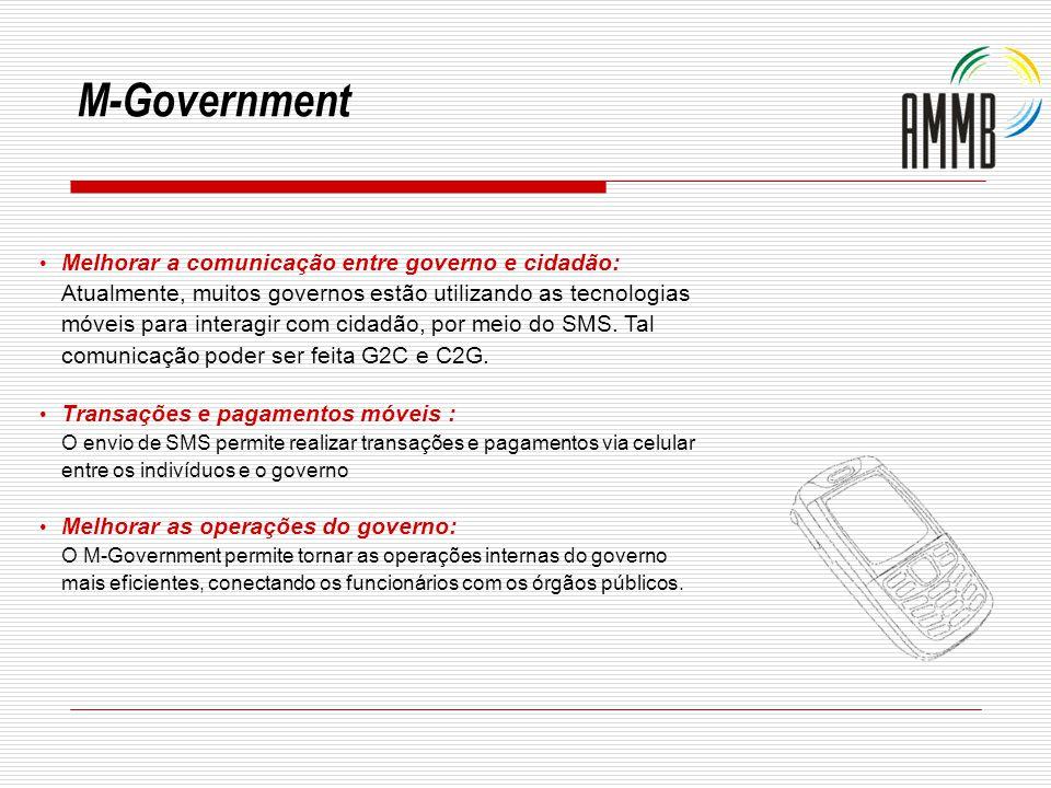 Melhorar a comunicação entre governo e cidadão: Atualmente, muitos governos estão utilizando as tecnologias móveis para interagir com cidadão, por mei