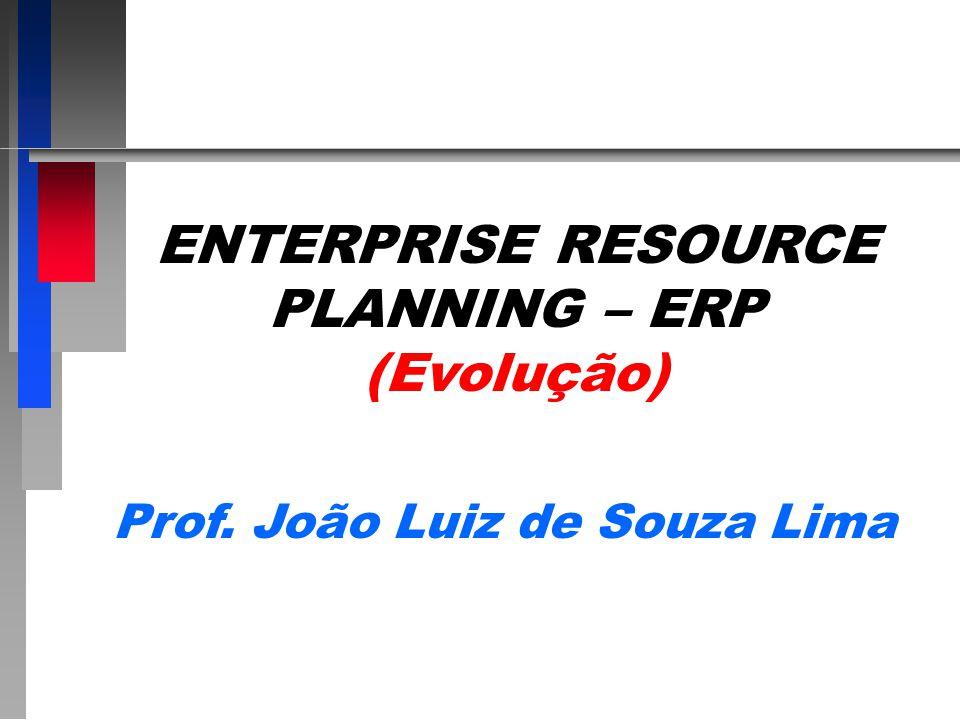 ENTERPRISE RESOURCE PLANNING – ERP (Evolução) Prof. João Luiz de Souza Lima