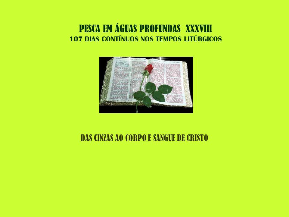 PESCA EM ÁGUAS PROFUNDAS XXXVIII 107 DIAS CONTÍNUOS NOS TEMPOS LITÚRGICOS DAS CINZAS AO CORPO E SANGUE DE CRISTO