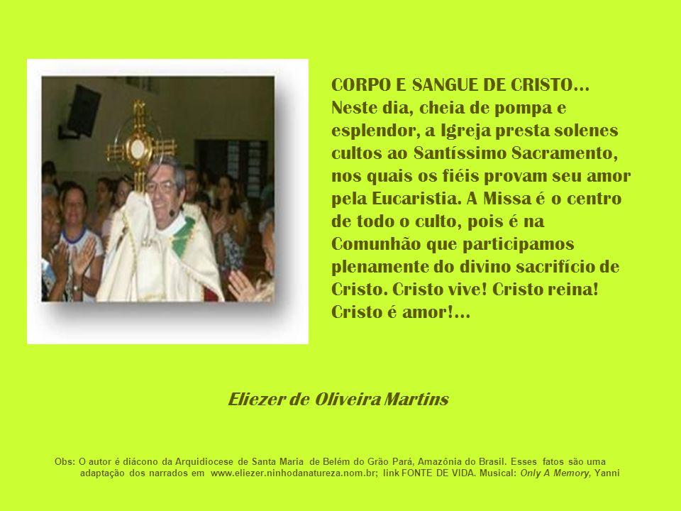 CORPO E SANGUE DE CRISTO...