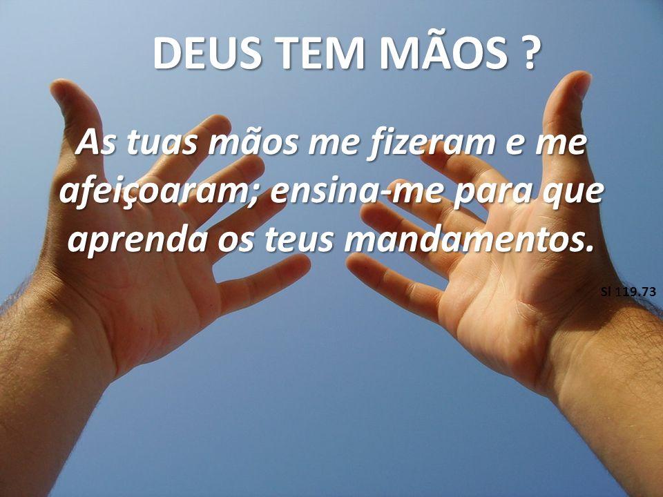 As tuas mãos me fizeram e me afeiçoaram; ensina-me para que aprenda os teus mandamentos.