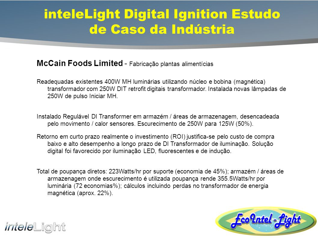 Richmond Olympic Oval Retrofit inteleLight Digital Ignition Estudo de Caso da Indústria