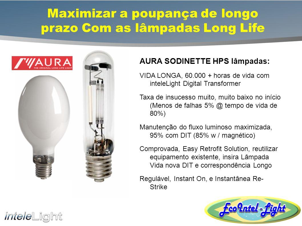 Maximizar a poupança de longo prazo Com as lâmpadas Long Life VENTURE LIGHTING MH lâmpadas: SUPER pulso da vida começar muito, 40.000 + horas de vida UNI-FORM PSMH, de baixo custo, alta performance de pulso Iniciar MH Optimizado para lâmpadas MH DIT Manutenção do fluxo luminoso maximizada, 90% + Natural White Pulso Iniciar MH, 90 + C.R.I., 5.000 K Temperatura de Cor