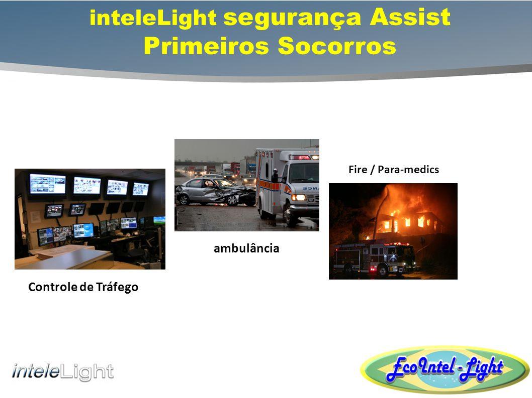 inteleLight segurança Disponibilidade de acesso remoto seguro Permite socorristas para avaliar a situação antes de chegar