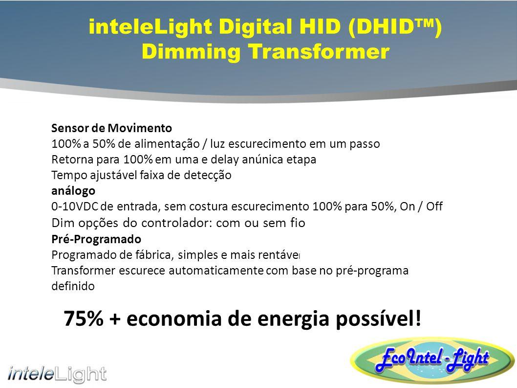 Digital HID Transformer for Retrofits Reusar Luminária de resíduos existente = Menos De classe mundial de tecnologia de poupança de energia, 45% + Desenhado e desenvolvido na América do Norte 98% a eficiência de transformação, manutenção do fluxo luminoso 95% Prolonga a vida da lâmpada em 50% mais HPS & MH Compatível, 50-1000W, multi-tensões Resistente às intempéries; todos os transformadores são totalmente silício potted / selado Adaptação é simples, e oferece o mais curto ROI!