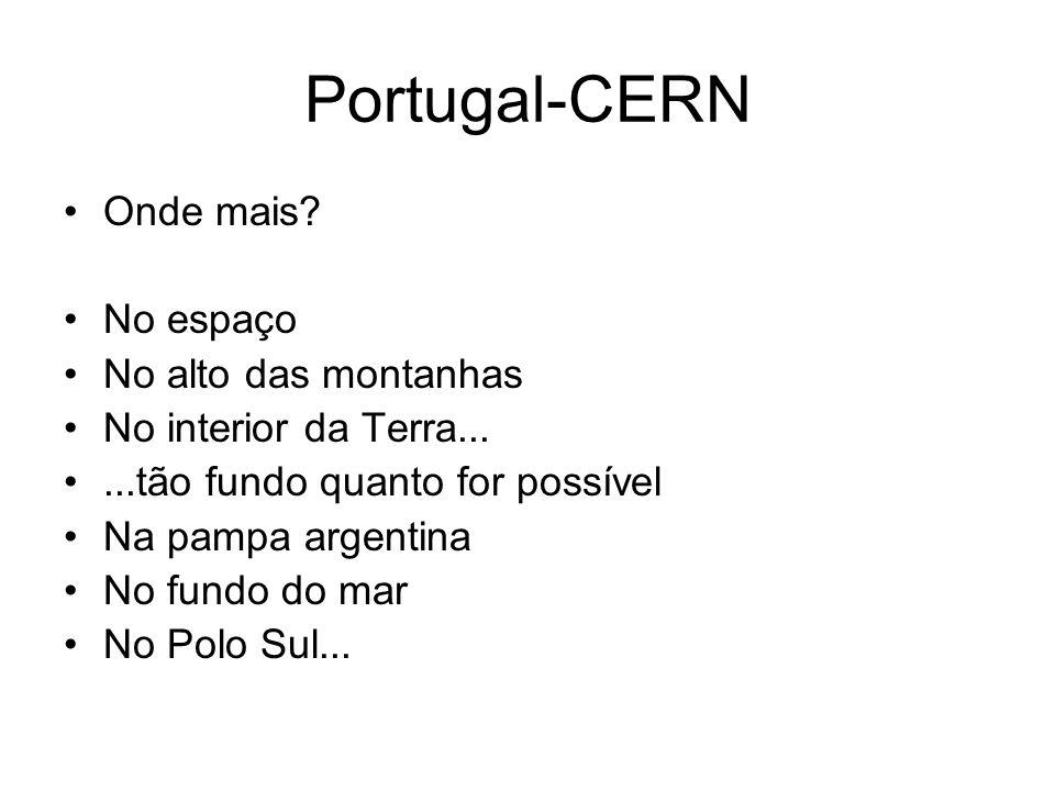 Portugal-CERN Onde mais.