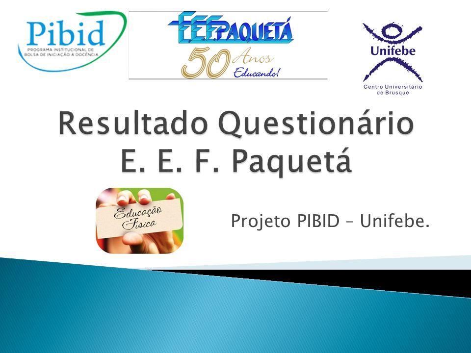 Foi realizado entre os dias 01 e 09 de novembro, um questionário para pais, alunos e professores da escola, sobre alimentação e atividade física.