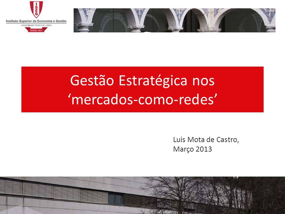Gestão Estratégica nos mercados-como-redes Luis Mota de Castro, Março 2013