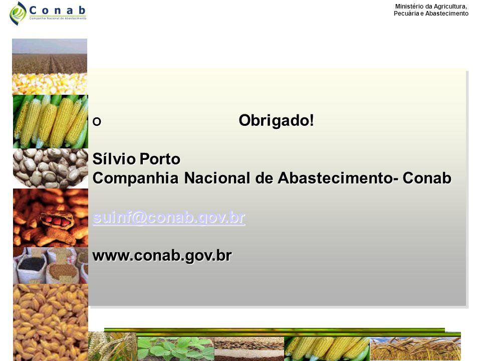 Ministério da Agricultura, Pecuária e Abastecimento O Obrigado.