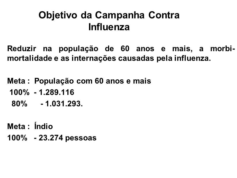 Campanha Nacional de Vacinação do Idoso 2008 Resumo da Campanha Objetivo de Mídia Divulgar a Campanha Nacional de Vacinação do Idoso, buscando atingir com eficiência o maior número de pessoas com 60 anos e mais.