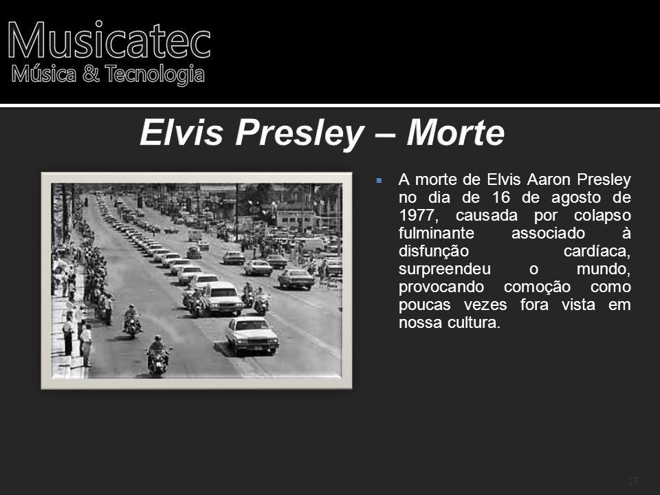 A morte de Elvis Aaron Presley no dia de 16 de agosto de 1977, causada por colapso fulminante associado à disfunção cardíaca, surpreendeu o mundo, pro