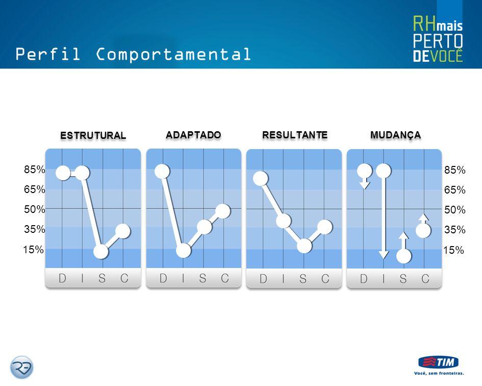 Perfil Comportamental C o n f o r m i d a d e A L T A B A I X A Precisão Precaução Uniformidade Perfeccionismo Meticulosidade Independência Irreverênc
