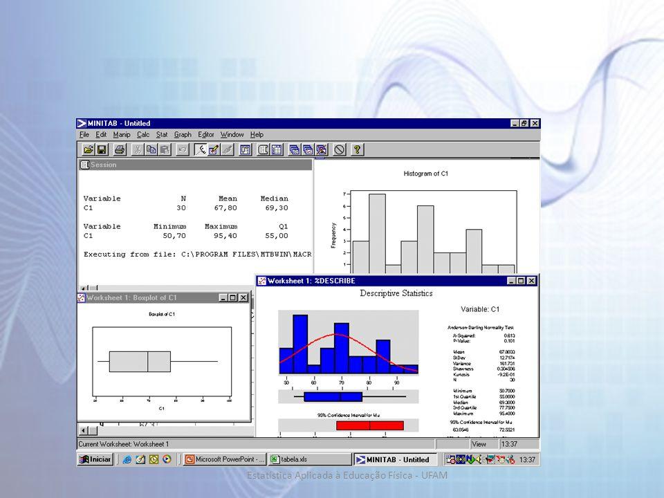 Digite o conjunto de dados em uma coluna Graph / Histogram Clique em Graph / Histogram Graph Variables Options...